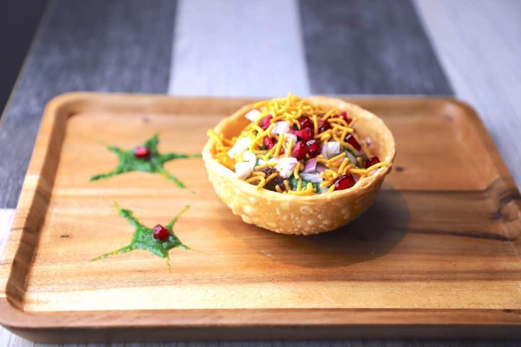 Katori chaat recipe - Tokri chaat  - how to make katori chaat
