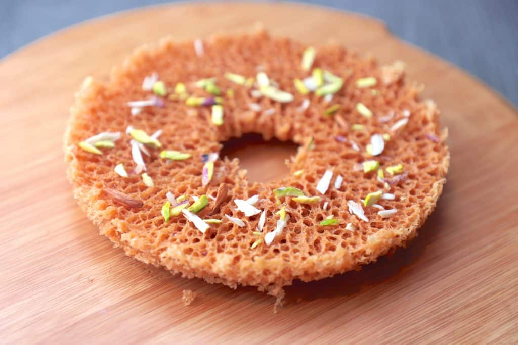 Ghevar recipe - Rajasthani ghevar