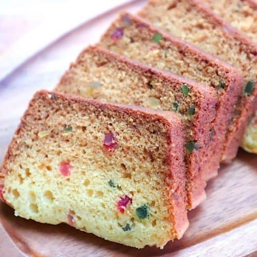 Tutti frutti cake - eggless without oven cake