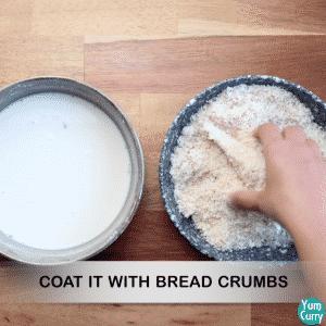 Crispy bread cones
