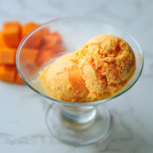 Mango Ice Cream Recipe- no machine ice cream