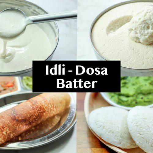Dosa batter recipe - How to make dosa idli batter