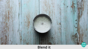 blend coconut flesh with coconut milk