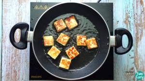 fry paneer until golden brown