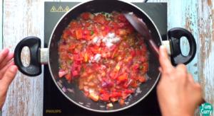 frying tomatoes
