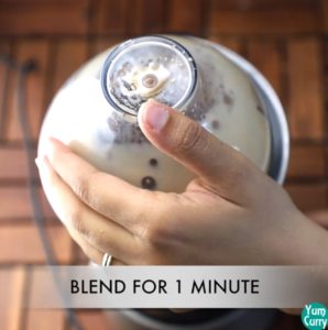 blend the cold coffee