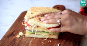 cut sandwich in half
